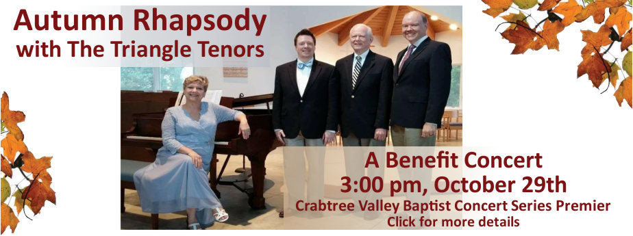 The Three Triangle Tenors Benefit Concert